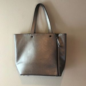 NEIMAN MARCUS FAUX LEATHER TOTE BAG